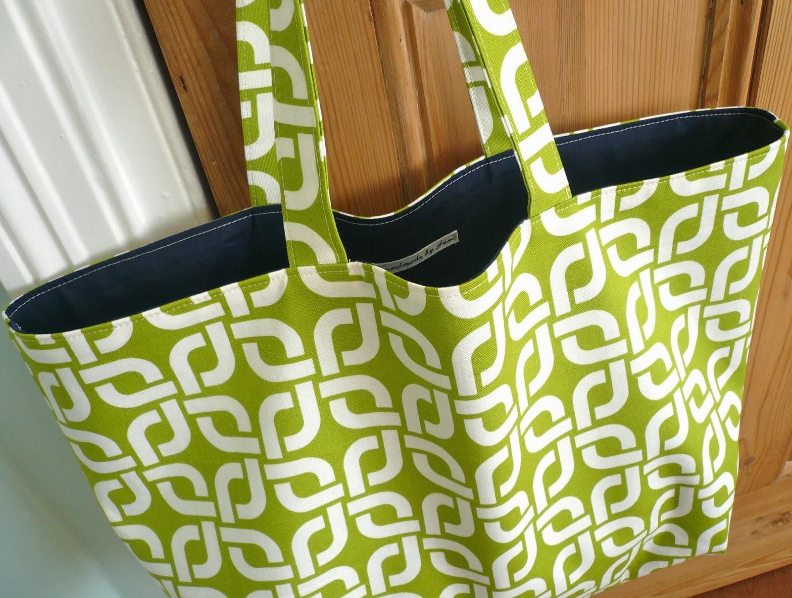 Handmade reversible tote bag