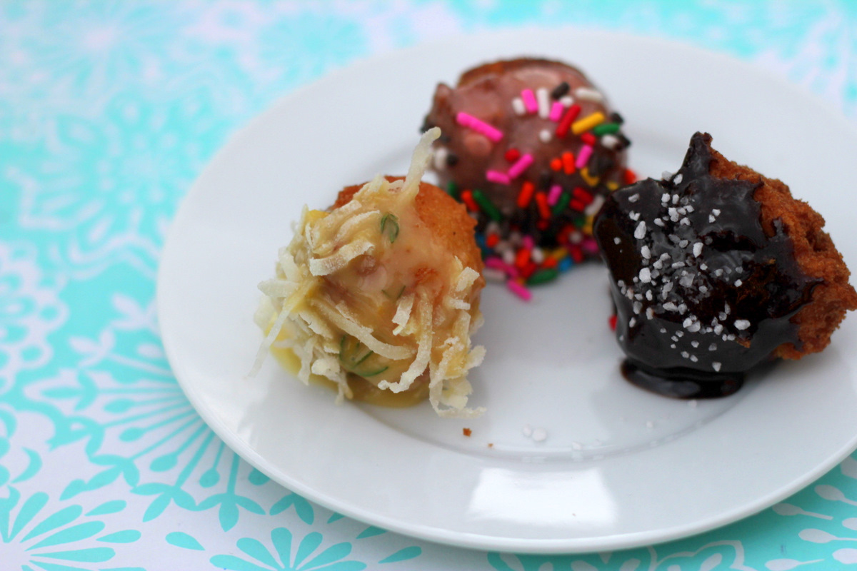 with homemade donut holes and a buffet of toppings for optimum donut ...