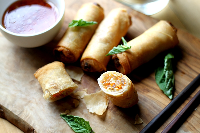 Just another day .: Fried spring rolls (vegetarian)