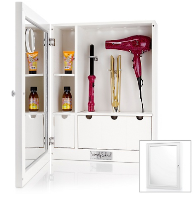 cabinet for hair care products - dryer, curling iron, etc.
