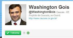 Siga o Twitter pessoal do Prefeito Washington Góis