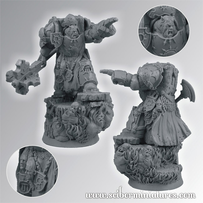 Bearer for the gearcult egzekuthor squad from hitech miniatures