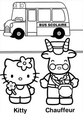 a desenhar hello kitty com animais colorir