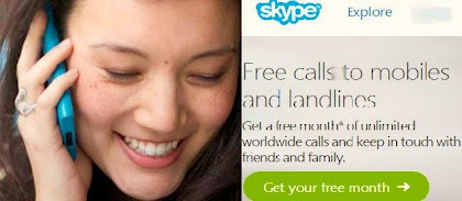 Skype free calls to offline mobiles-landline phones anywhere in the world