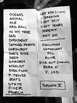 Pearl Jam play list including the song WISHLIST