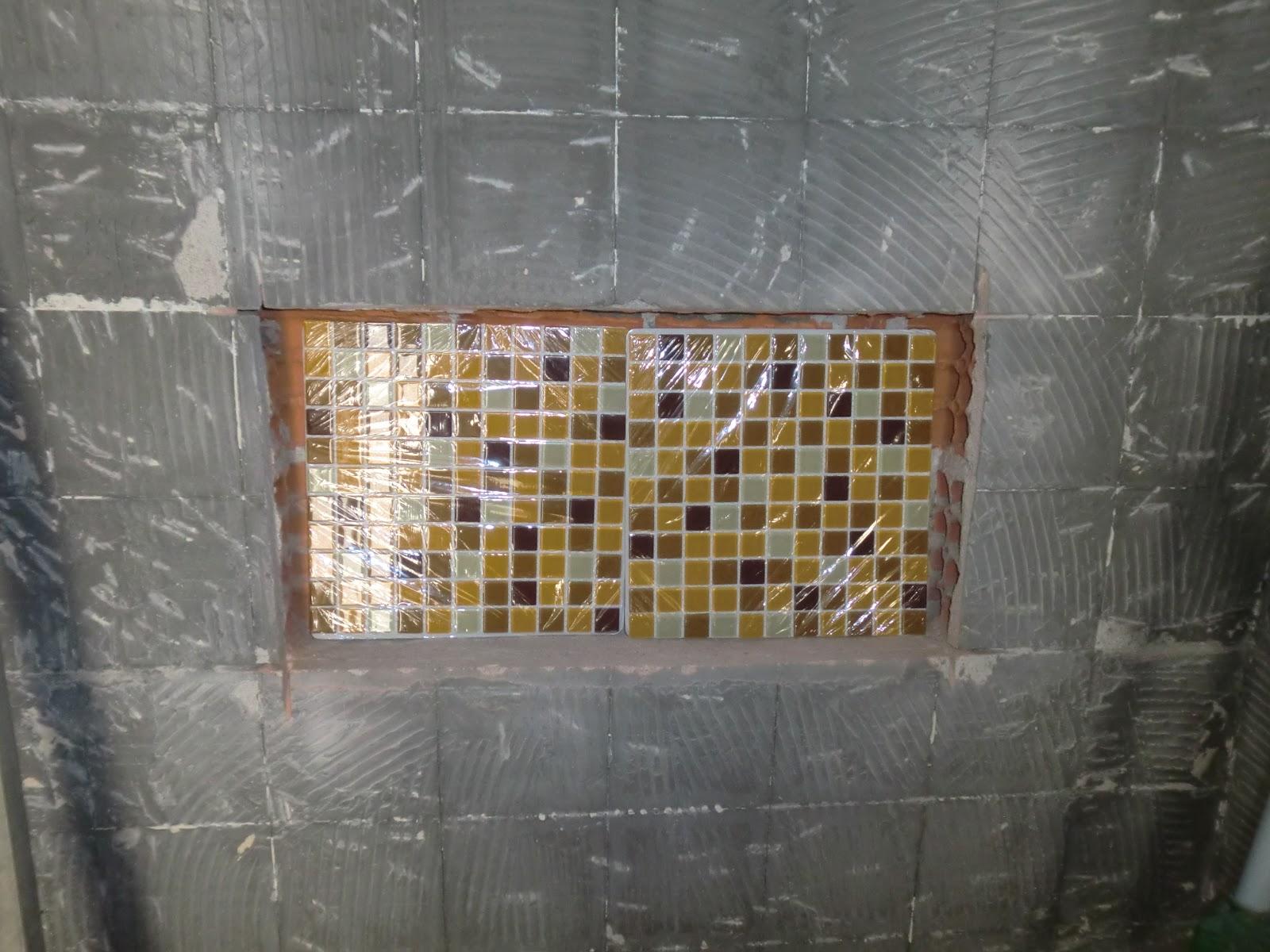 Pastilhas de vidro para o nicho #624832 1600x1200 Banheiro Com Porcelanato E Pastilha De Vidro