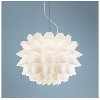 Copy Cat Chic Possini Euro Design White Flower Pendant Chandelier