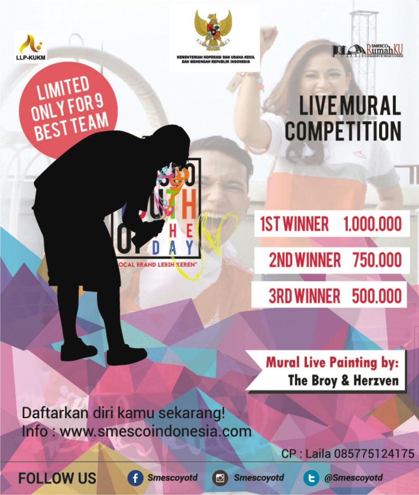 October 2015 Smesco Promo Produk Ukm Bumn Bahan Songket Sulam Katun Merah Live Mural Competition