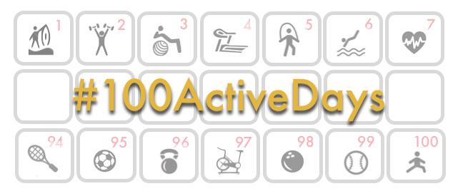 #100ActiveDays