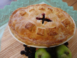 Apple and Blackberry Pie with Stem Ginger
