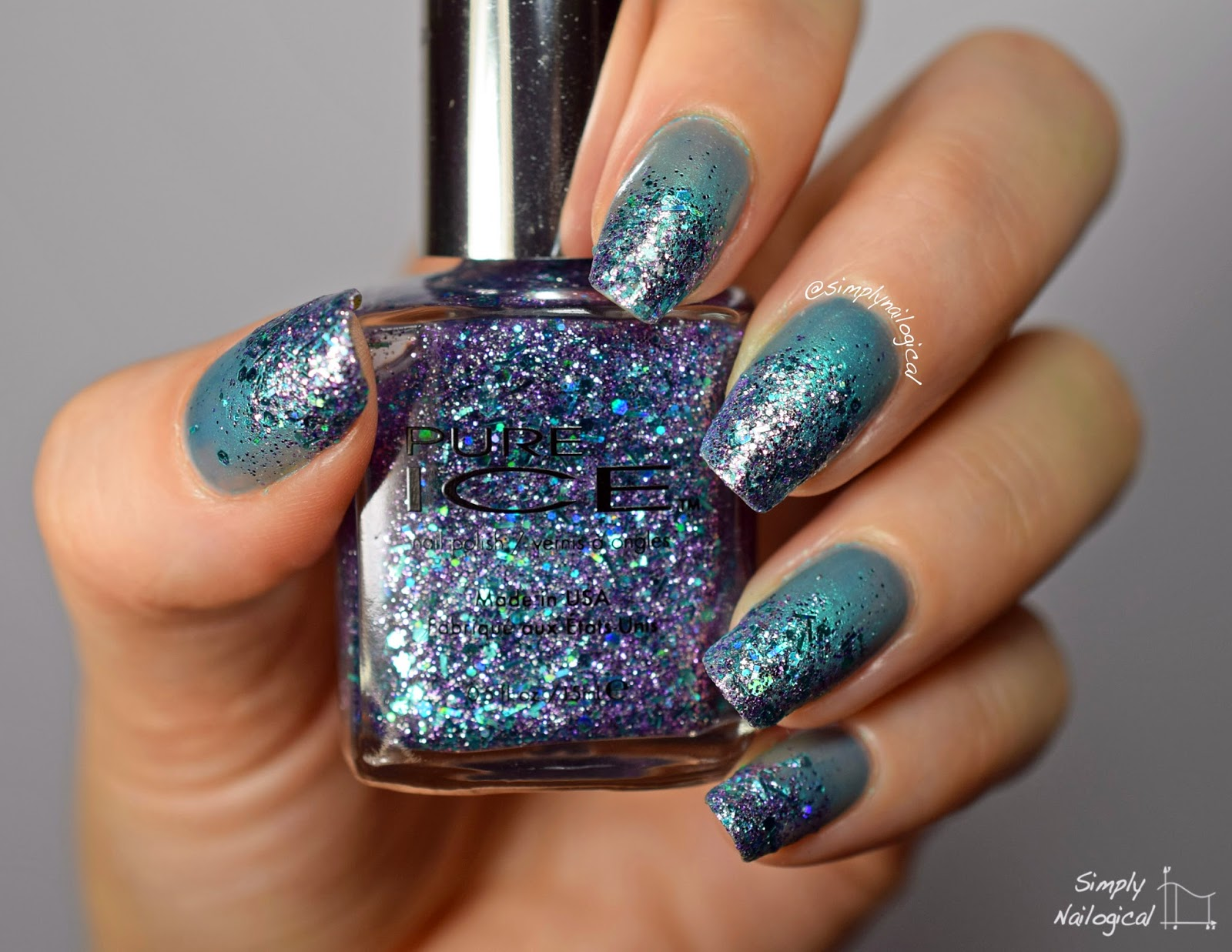 Simply Nailogical: Lazy Sunday: Pure Ice glitter gradient