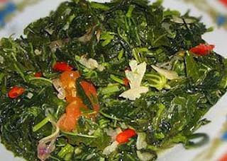 Cassava Leafs Saute (Tumis Daun Singkong)