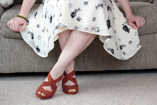 H&M shoes bunny rabbit print