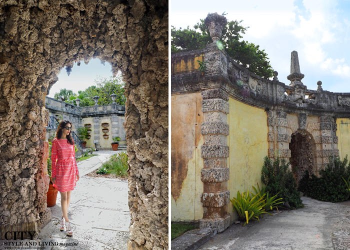 At a coral grotto at Vizcaya Museum and Gardens. The garden grounds. /K&S Media