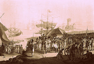 Wellington landing at Lisbon in 1809