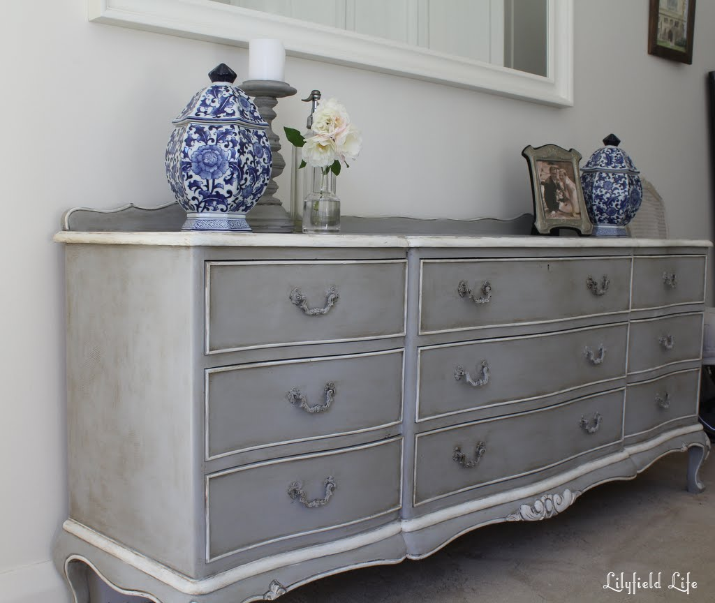 Lilyfield life french ch teaux chest of drawers in paris grey for Dark grey furniture paint