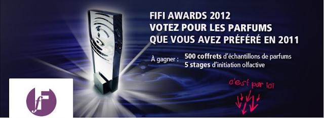 A gagner: 500 coffrets contenant 10 échantillons de parfums au jeu concours gratuit Fifi Awards 2012 bon plan parfum echantillon parfum gratuit