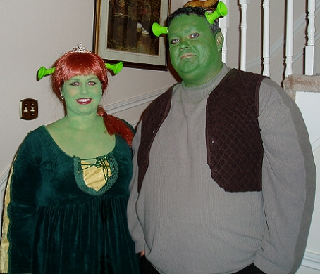 Shreck and Bride costume