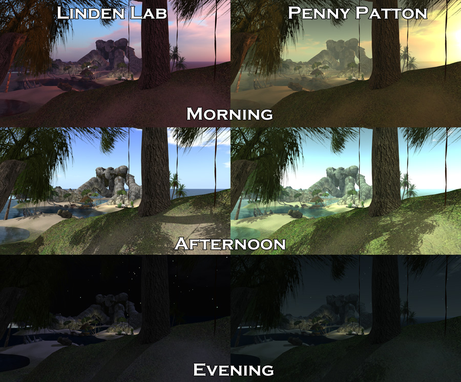 how to change windlight settings in second life