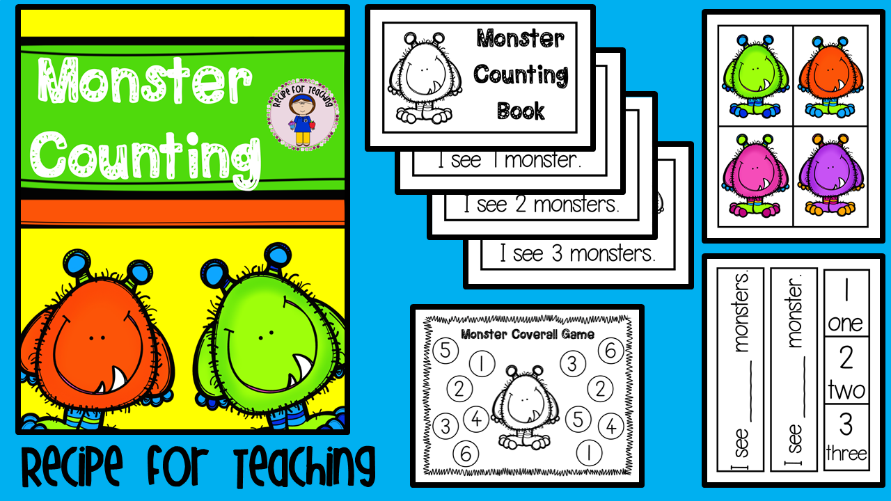 http://www.teacherspayteachers.com/Product/Monster-Counting-1480111