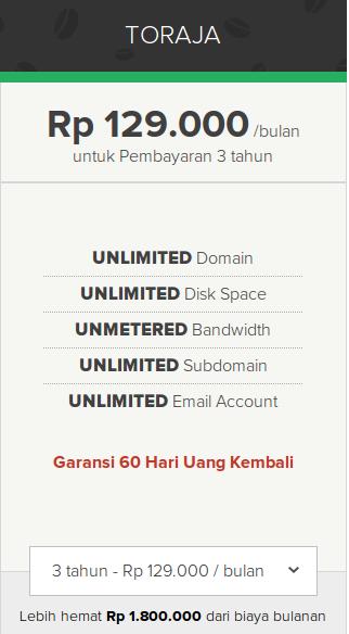 Unlimited Web Hosting Toraja