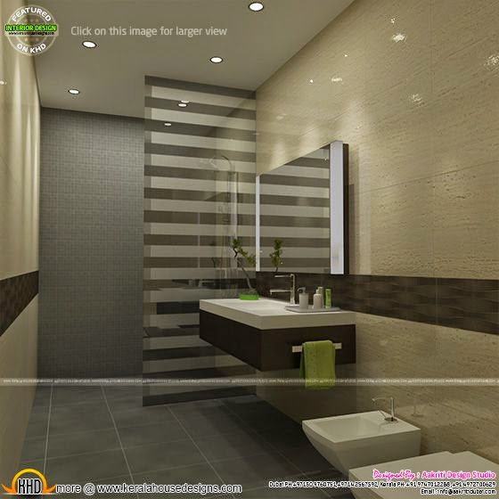 Awesome Interiors Of Living Kitchen And Bathroom Kerala Home Design And Floor Plans