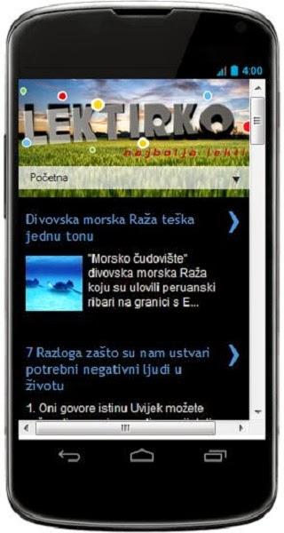 Instaliraj Lektirko aplikaciju na svoj mobitel
