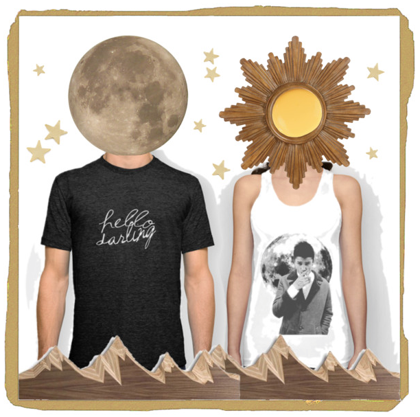 The sun and the moon collage by @faitboum on Polyvore