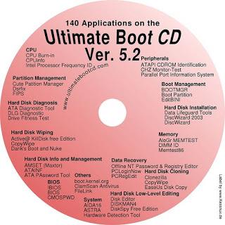 Ultimate Boot CD 5.2.4 Final Công cụ cứu hộ máy tính
