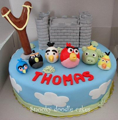 Angry birds birthday cake topper decoration ebay for Angry birds cake decoration kit