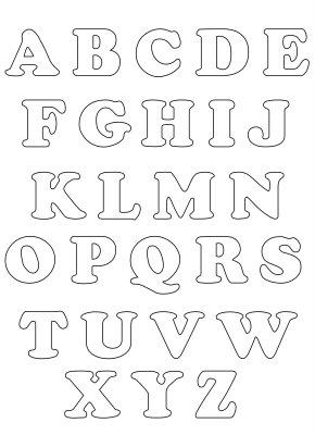 Moldes de letras em feltro