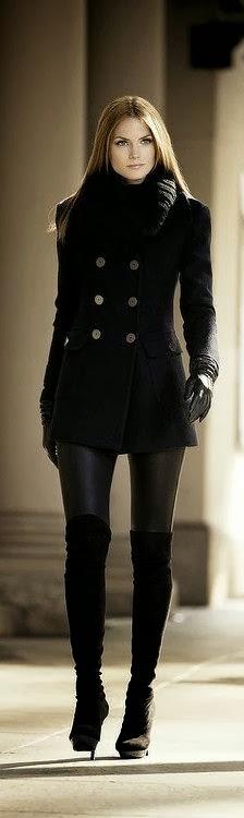 Black Winter Coat