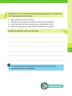 Apoyo Primaria Español 2do grado Bloque 4 lección 1 Las mentiras