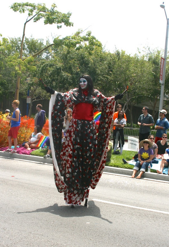 Kabuki stiltwalker LA Pride Parade 2013
