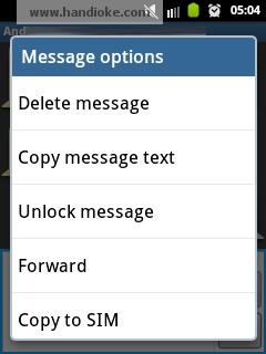 tips untuk samsung galaxy y Mengunci Pesan SMS