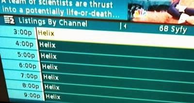 Helix tv schedule
