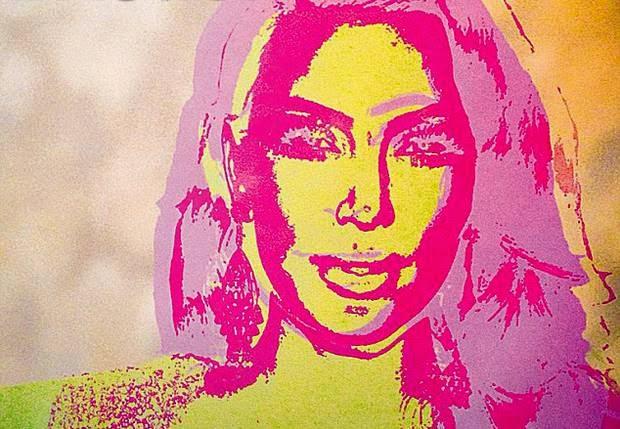 Kim Kardashian, Kanye, Monica Warhol, Andy Warhol,
