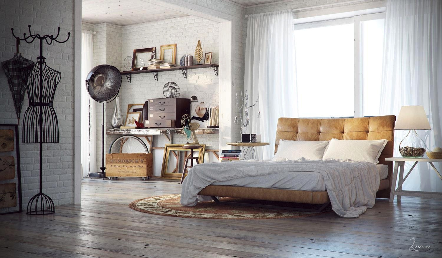 Industrial bedrooms interior design interior design for Industrial interior designs