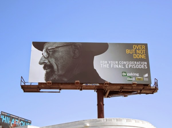 Breaking Bad Over but not done 2014 Emmy billboard