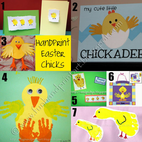 Easter handprint chicks