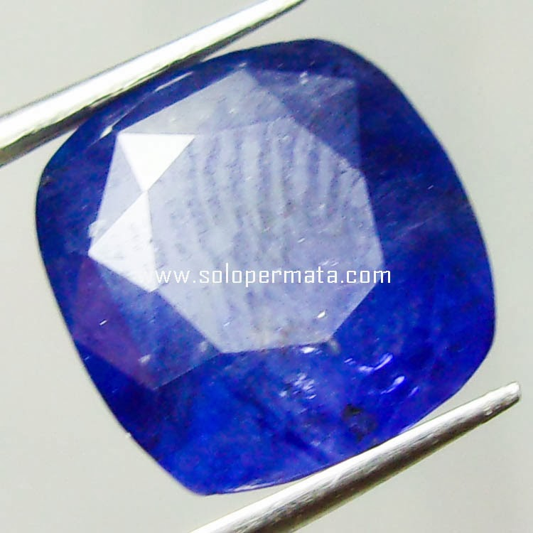 Batu Permata Royal Blue Sapphire Ceylon - Kode 15A04