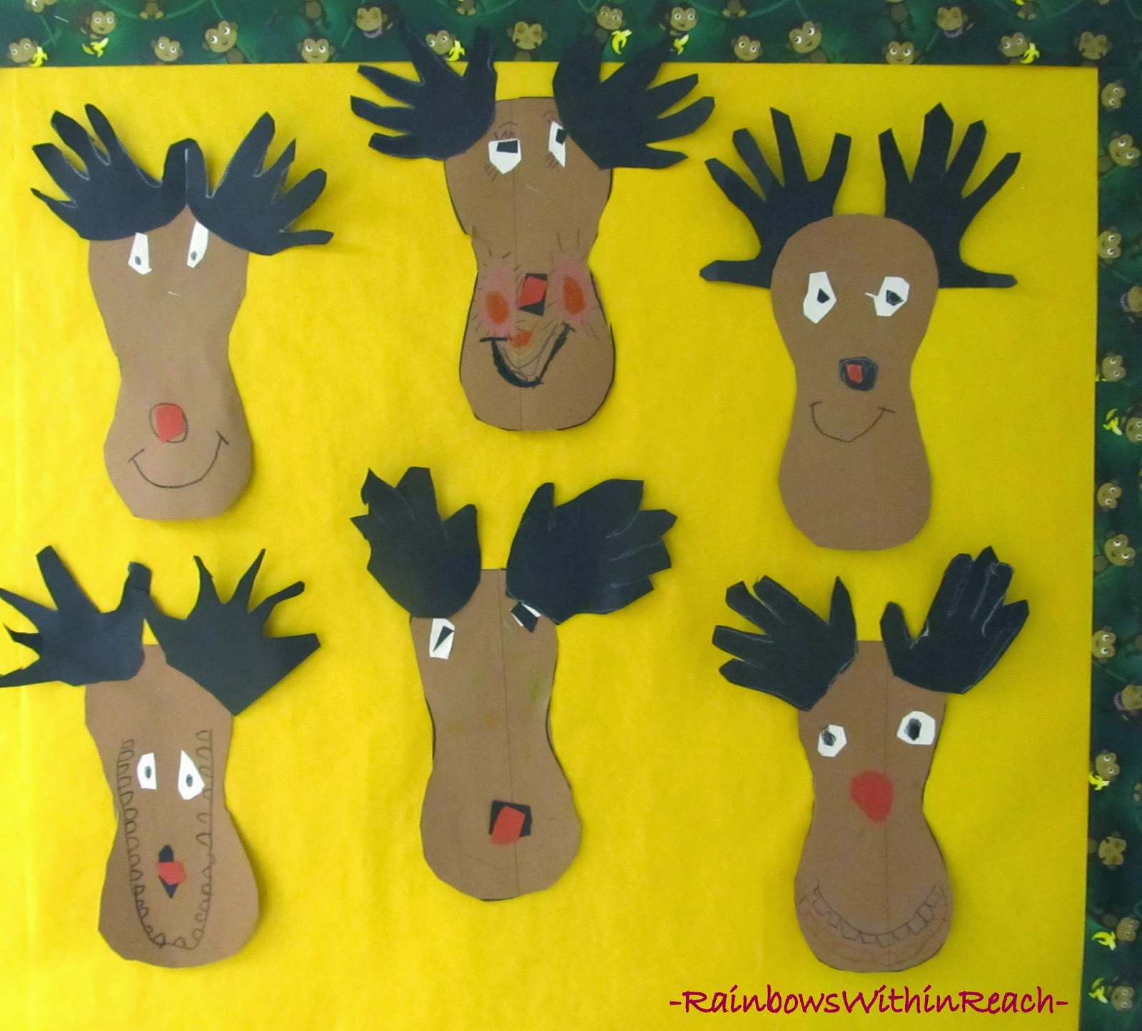 Christmas Bulletin Board: Reindeer with Antlers at RainbowsWithinReach