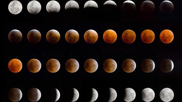 eclipses Lunares y estados de la luna