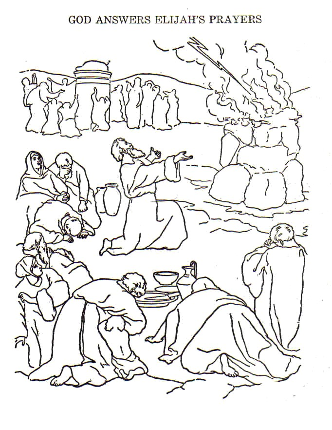 bible story coloring pages elijah - photo#33