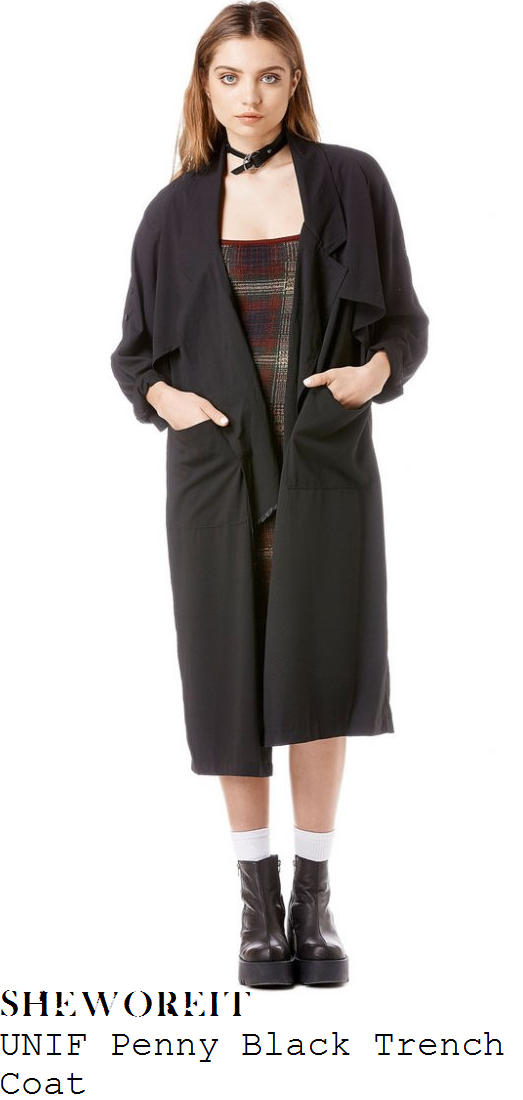 chloe-sims-black-half-sleeve-relaxed-fit-trench-coat-towie