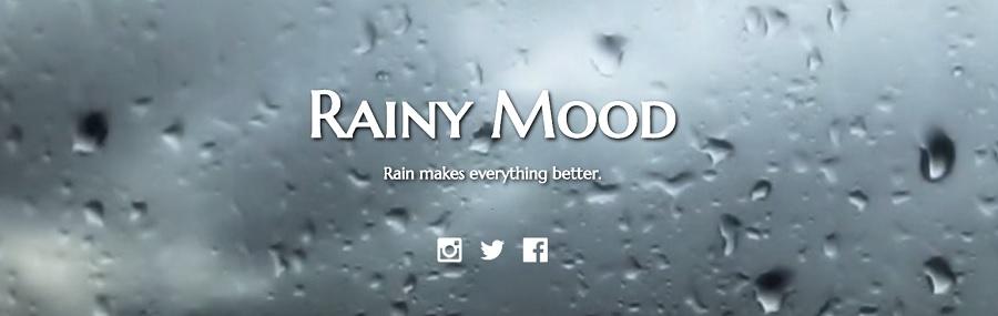 Rainy mood  - Deszcz pada w internecie