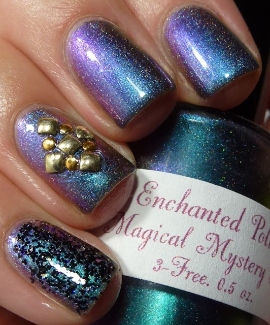 Magical Mystery Tour, Enchanted Polish, CrowsToes Triple Black Diamond, studs