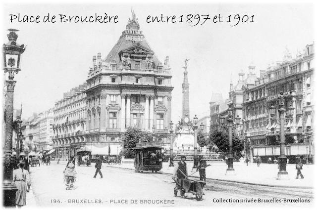 Place de Brouckère inaugurée en août 1897 - Bruxelles-Bruxellons