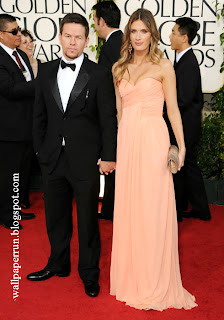 Actor Mark Wahlberg (L) and Rhea Durham arrive at the 68th Annual Golden Globe Awards in Beverly Hills