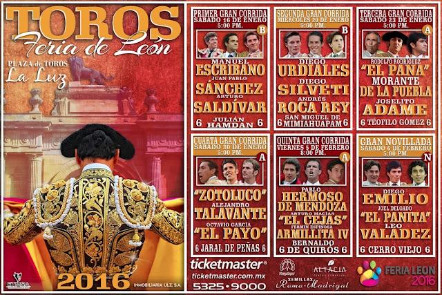 corridas de toros Feria De León 2016